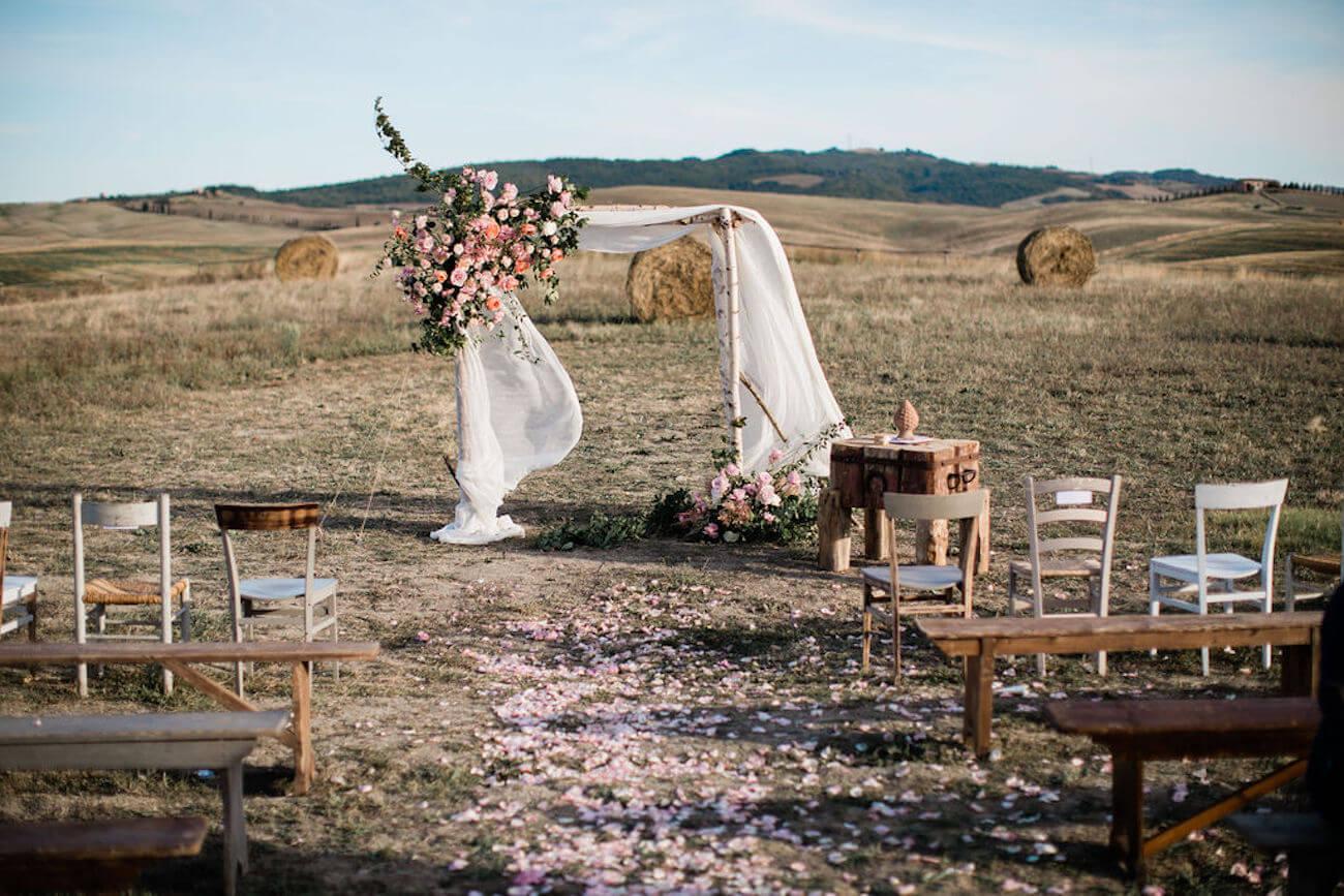 cerimonia nuziale in casale