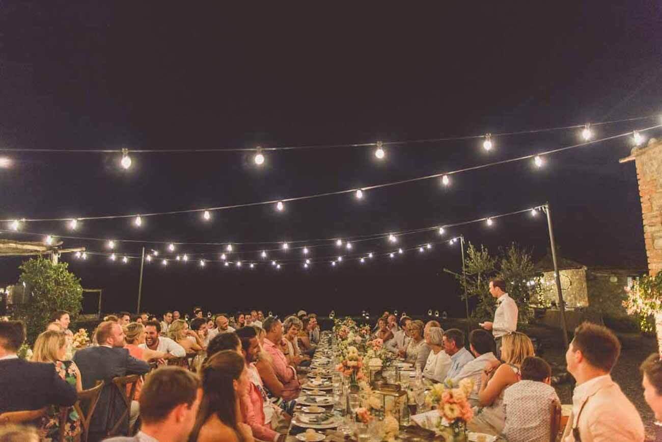 cena di matrimonio country